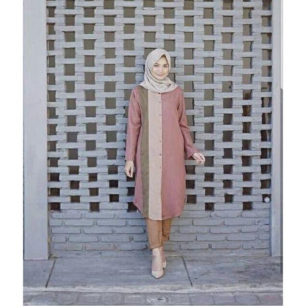 Model Baju Tunik Terbaru Warna Kombinasi Cantik