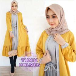 Baju Atasan Wanita Muslim Tunik Kombinasi