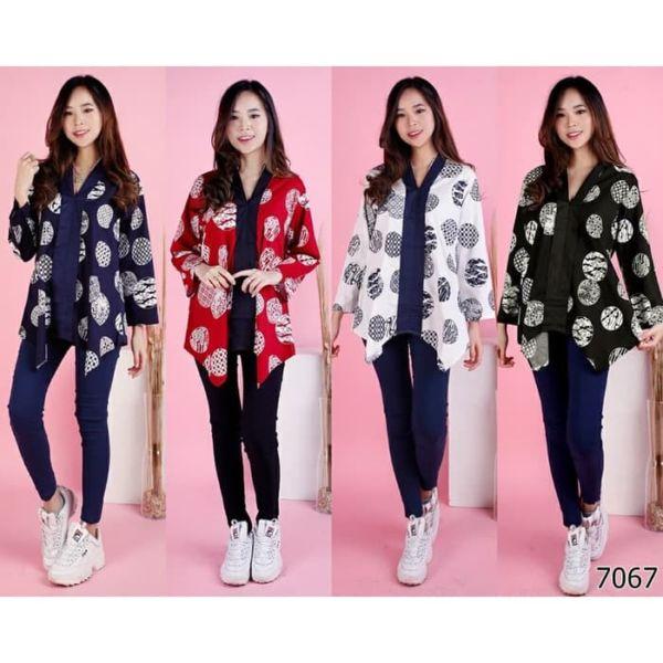 Model Baju Atasan Batik Panjang Wanita Terbaru