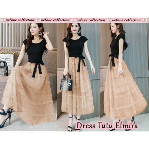 Baju Dress Tille Cantik Model Terbaru ala Korea