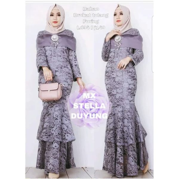 Baju Gamis Duyung Maxy Long Dress Pesta Brukat
