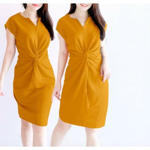 Baju Mini Dress Lilit Cantik Model Terbaru