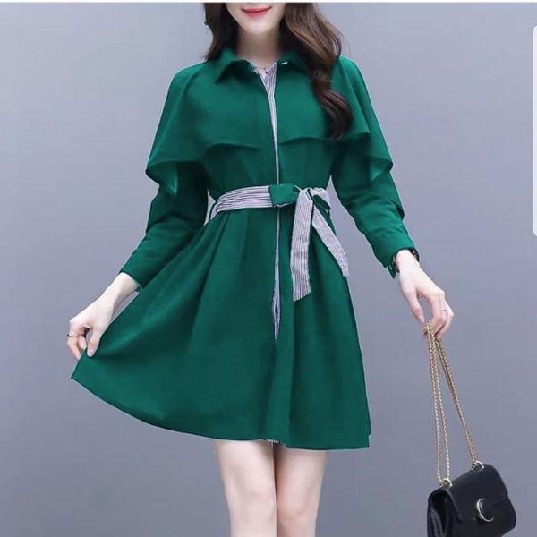 Baju Mini Dress Pendek Lengan Panjang Cantik