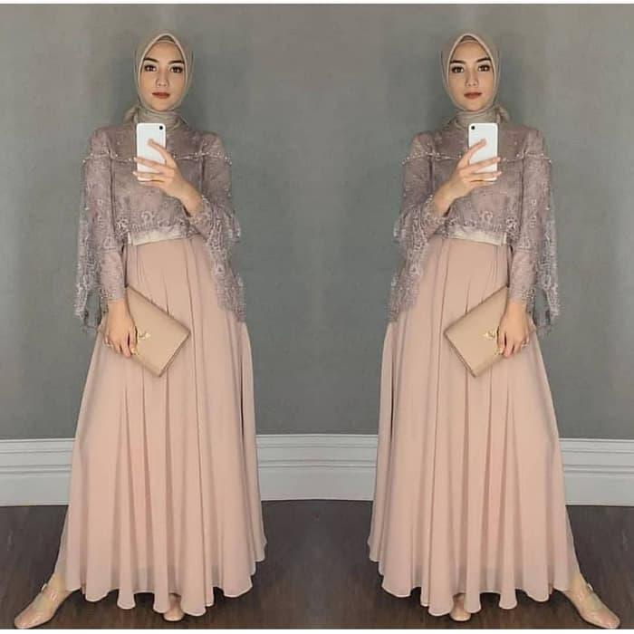 Model Baju Gamis Terbaru Kombinasi Tile Cantik Ryn Fashion