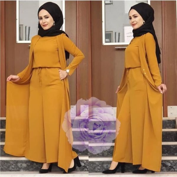 Model Baju Jumpsuit Long Cardigan Muslim Terbaru
