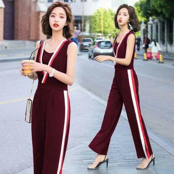 Model Baju Jumpsuit Panjang Lengan Buntung