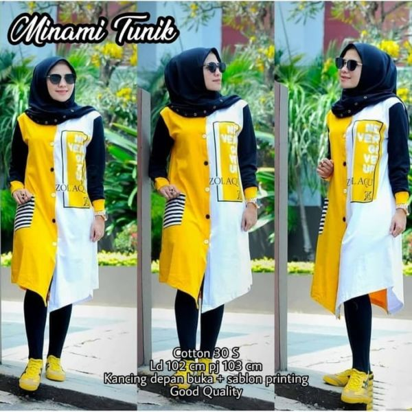 Model Baju Long Hem Tunik Modern Terbaru