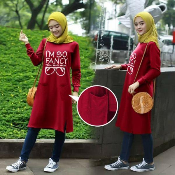 Model Baju Tunik Kaos Muslim Terbaru Masa Kini