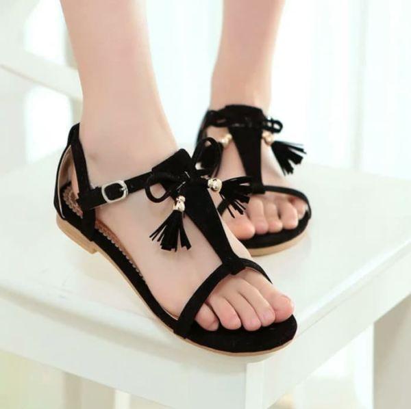 Sandal Teplek Flat Wanita Cantik Model Terbaru
