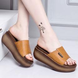 Sandal Wedges Selop Modern Masa Kini
