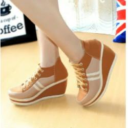 Sepatu Wedges Tali Wanita Model Terbaru