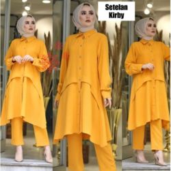 Setelan Baju Tunik dan Celana Kulot Modis