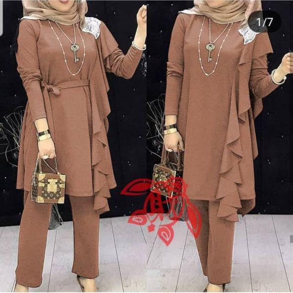 Setelan Hijab Baju Tunik dan Celana Panjang Cantik