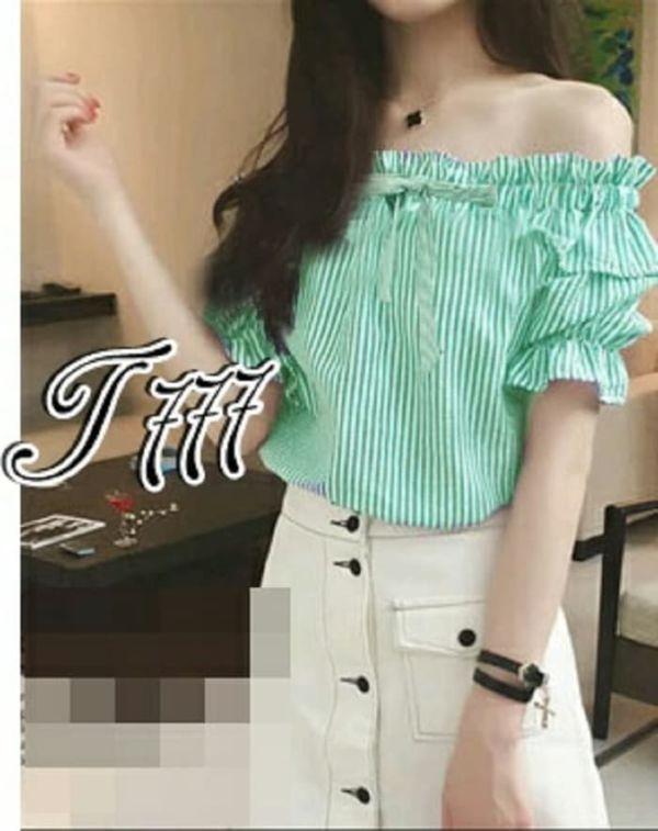 Baju Cewek Model Sabrina Lengan Pendek Terbaru
