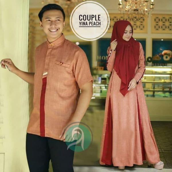 Baju Couple Gamis dan Koko Muslim Model Terbaru