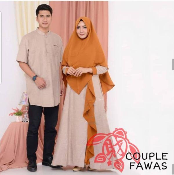 Baju Couple Setelan Gamis Syari dan Koko Murah