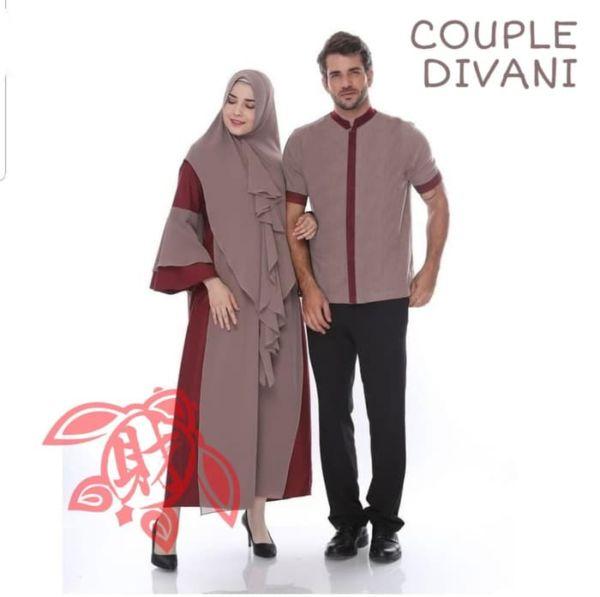 Baju Couple Setelan Gamis Syari dan Koko Muslim