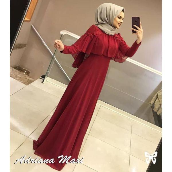 Baju Gamis Pesta Long Dress Muslim Model Terbaru