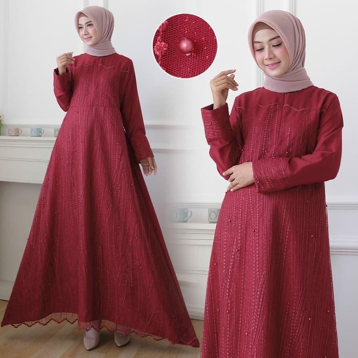 Baju Gamis Pesta Long Dress Muslim Model Terbaru   RYN Fashion
