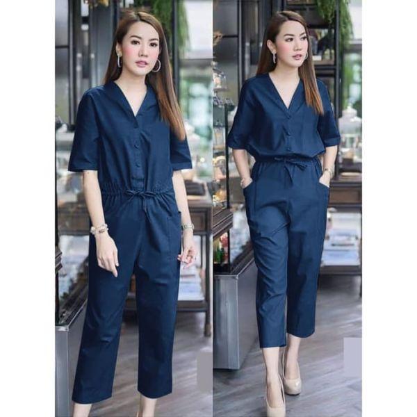 Baju Jumpsuit Wanita Panjang 7/8 Model Terbaru