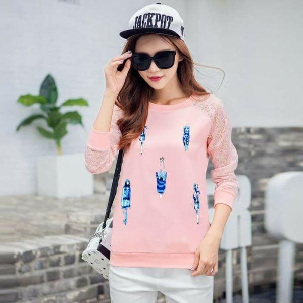 Baju Sweater Wanita Motif Cantik Model Terbaru