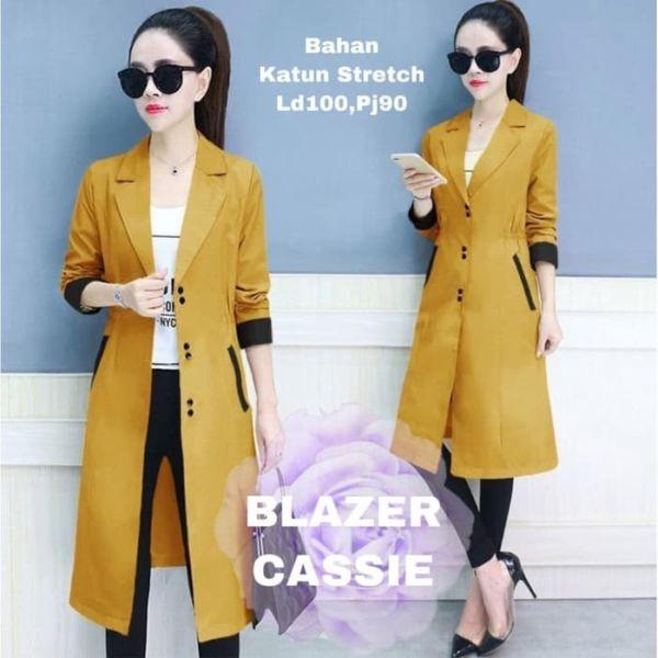 Blazer Fashion Wanita Cantik Model Terbaru