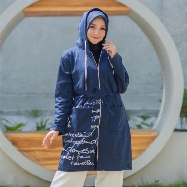 Jaket Wanita Muslim Panjang Hijab Model Terbaru