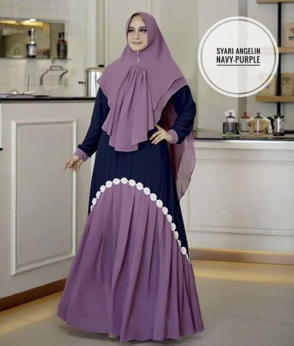 Model Setelan Baju Gamis Syari Bahan Ceruti Terbaru