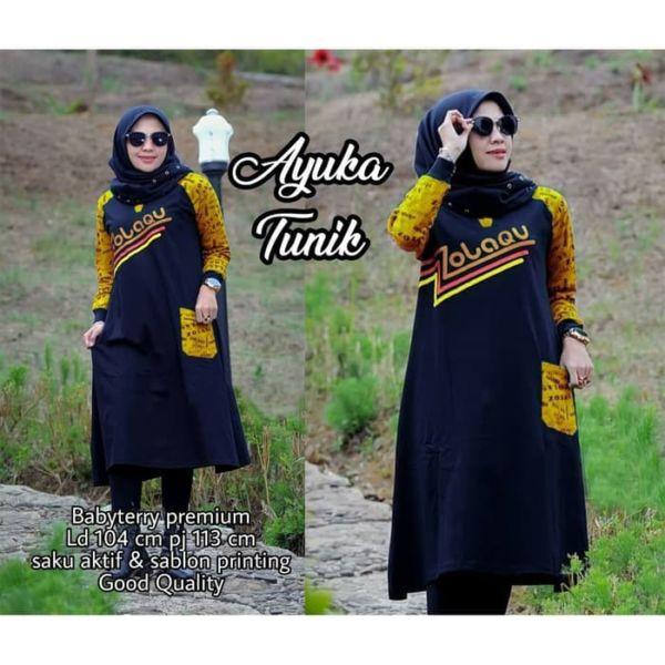 Model Tunik Terbaru Blouse Muslim Lengan Panjang