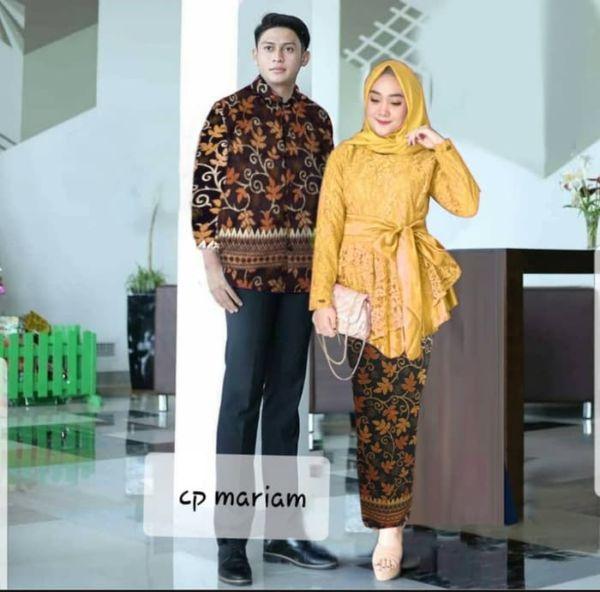 Setelan Baju Couple Kebaya dan Kemeja Batik Modern