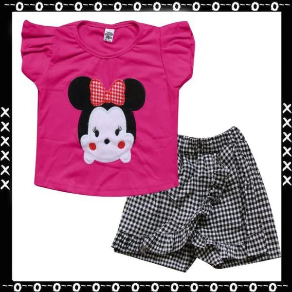 Setelan Baju dan Celana Pendek Anak Perempuan
