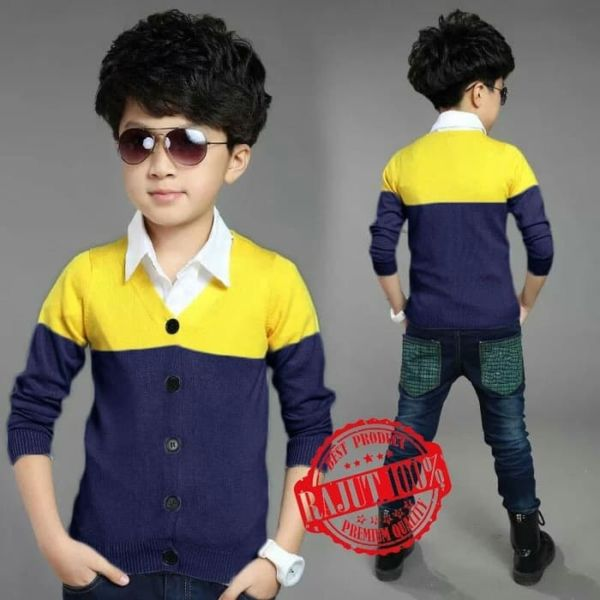 Baju Cardigan Rajut Anak Laki-laki Model Terbaru
