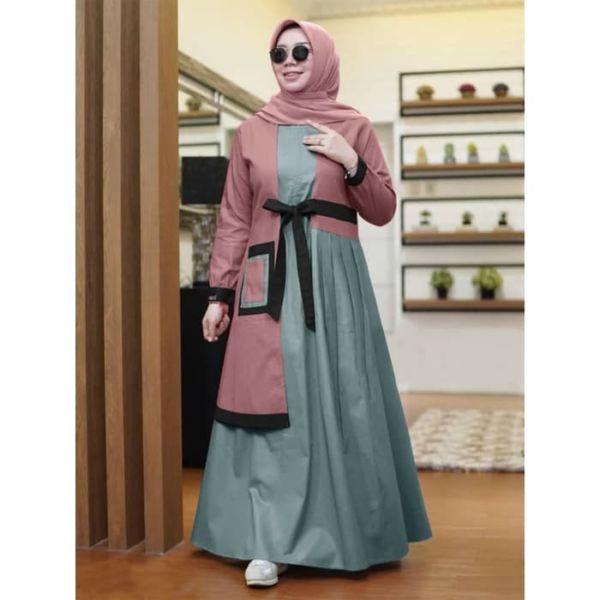 Baju Gamis Maxy Long Dress Muslim Modern