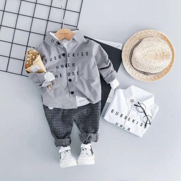Baju Kemeja Hem Anak Cowok Keren Model Terbaru