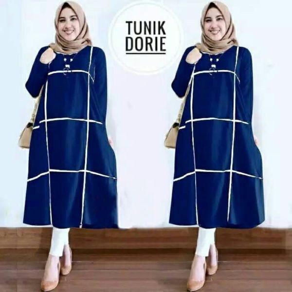 Baju Tunik Atasan Muslim Wanita Model Terbaru