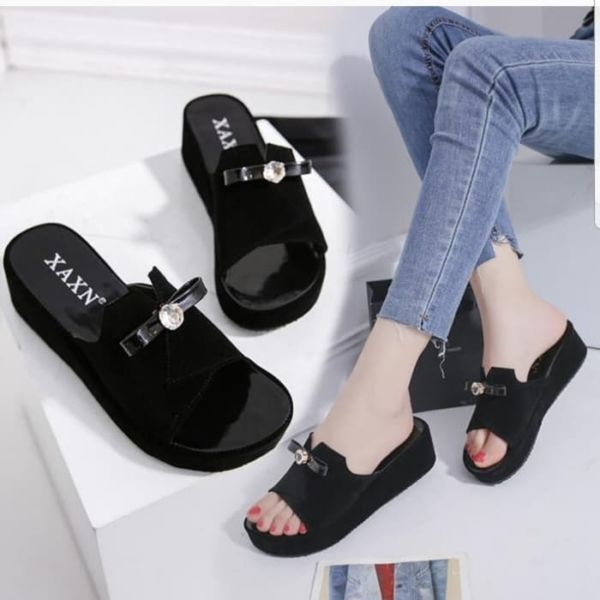 Sandal Wedges Selop Simple Modern Masa Kini