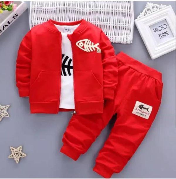 Setelan 3 in 1 Jaket Celana Panjang dan Inner Anak Pria