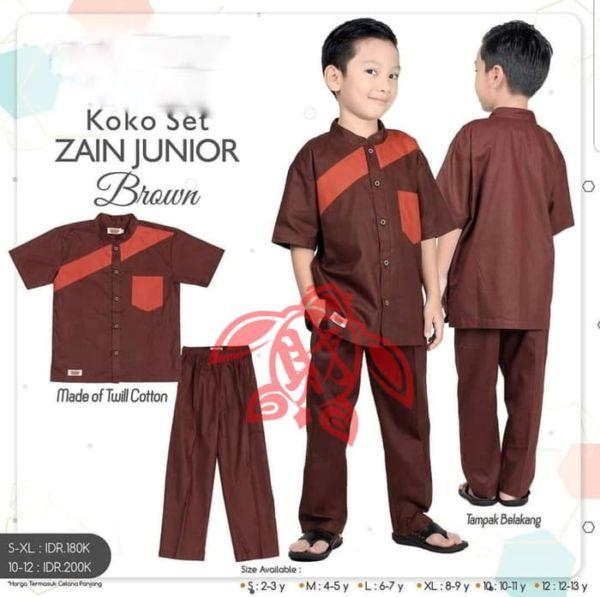 Setelan Baju Koko dan Celana Panjang Anak Cowok