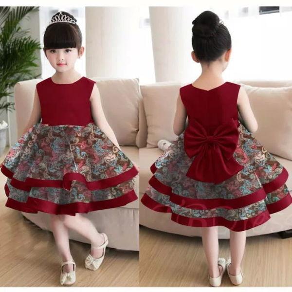Baju Dress Anak Motif Batik Cantik Model Terbaru