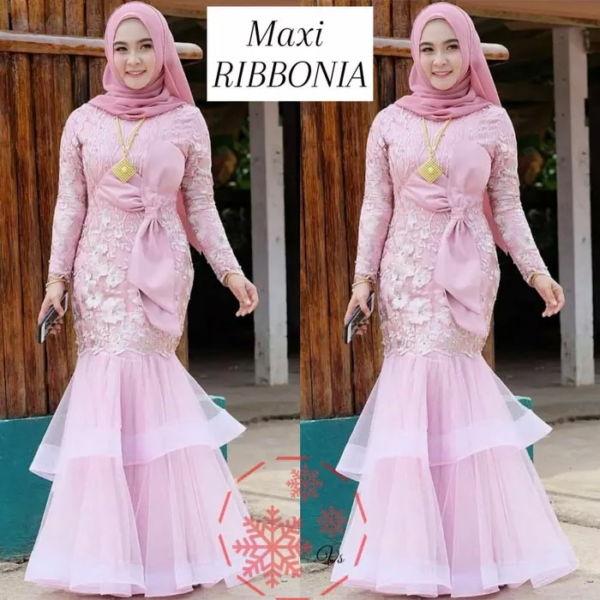 Baju Gamis Pesta Long Dress Muslim Tille