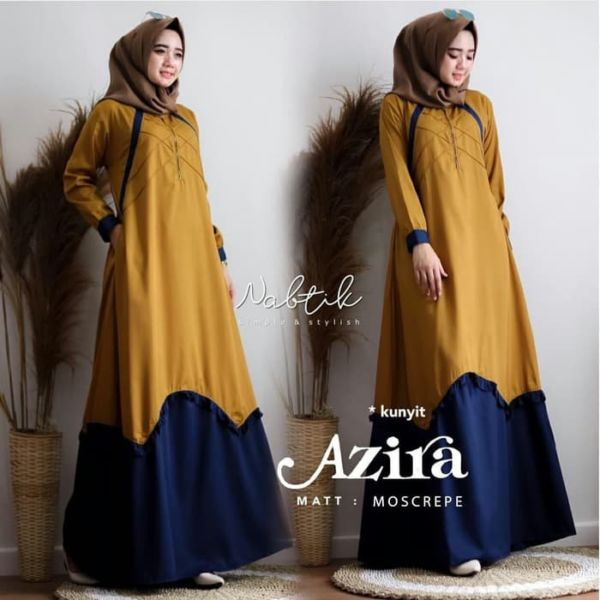 Baju Long Dress Muslim Simple Model Terbaru