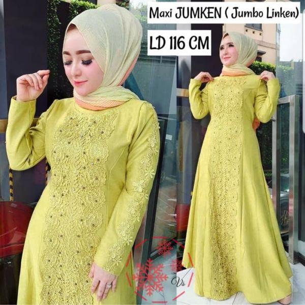 Model Baju Gamis Long Dress Muslim Jumbo