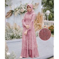 Model Baju Gamis Long Dress Muslim Tille