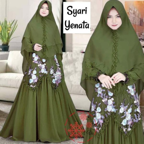 Model Baju Gamis Syari Brukat Setelan Jilbab Terbaru