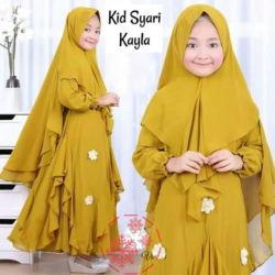 Setelan Baju Gamis Muslim Anak Perempuan Cantik