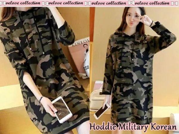 Sweater Hoodie Wanita Motif Army Model Terbaru