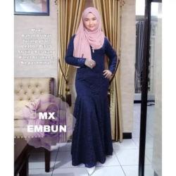 Model Baju Gamis Brukat Duyung Cantik Terbaru