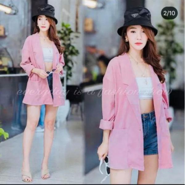 Baju Outer Blazer Wanita Polos Model Terbaru