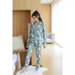Baju Tidur Piyama Wanita Bahan Satin Motif