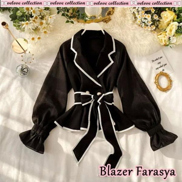 Blazer Cewek Ala Fashion Korea Modern Cantik